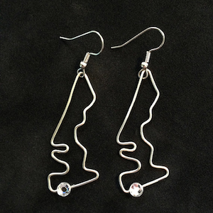 Track Map Earrings