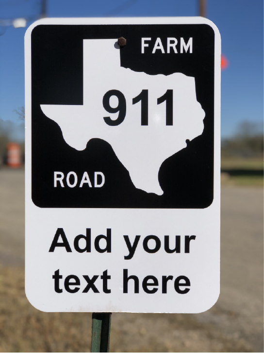 Texas Road Sign